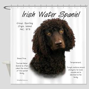 Irish Water Spaniel Shower Curtain