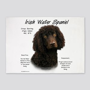 Irish Water Spaniel 5'x7'Area Rug