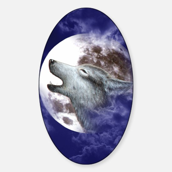 IPad 2 Hard Case_Moon_Wolf Sticker (Oval)