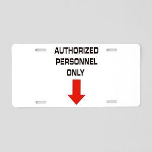 AUTHORIZED Aluminum License Plate