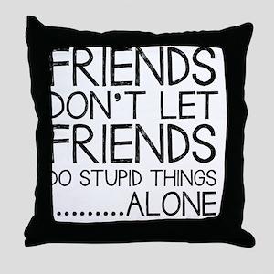 Good Friends Throw Pillow