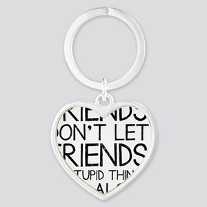 Good Friends Heart Keychain
