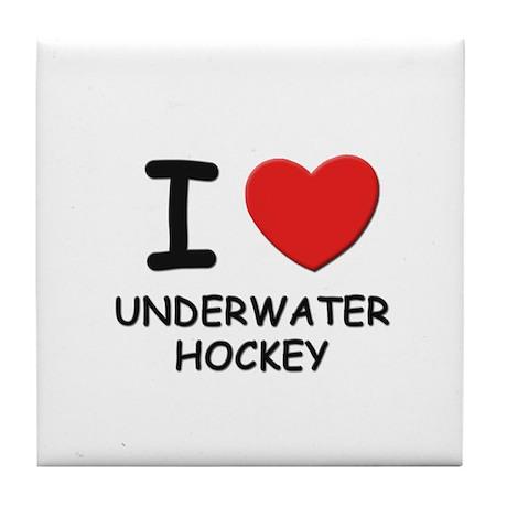 I love underwater hockey Tile Coaster
