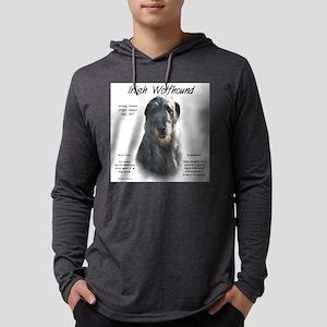 Irish Wolfhound (grey) Mens Hooded Shirt