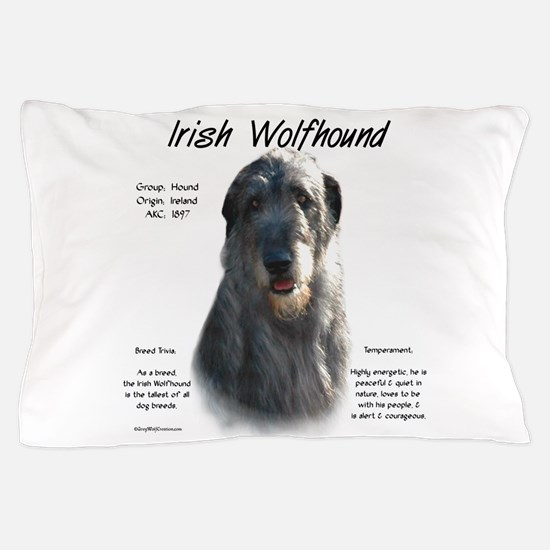 Irish Wolfhound (grey) Pillow Case