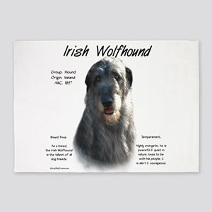 Irish Wolfhound (grey) 5'x7'Area Rug