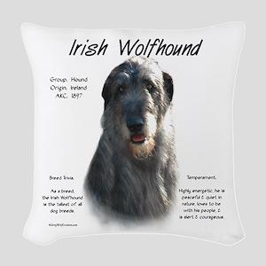 Irish Wolfhound (grey) Woven Throw Pillow