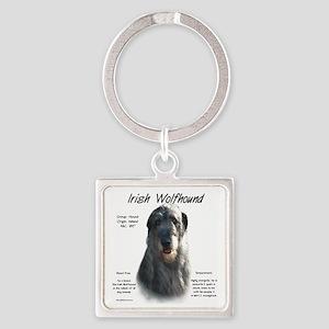 Irish Wolfhound (grey) Square Keychain