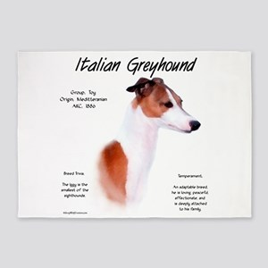 Italian Greyhound 5'x7'Area Rug