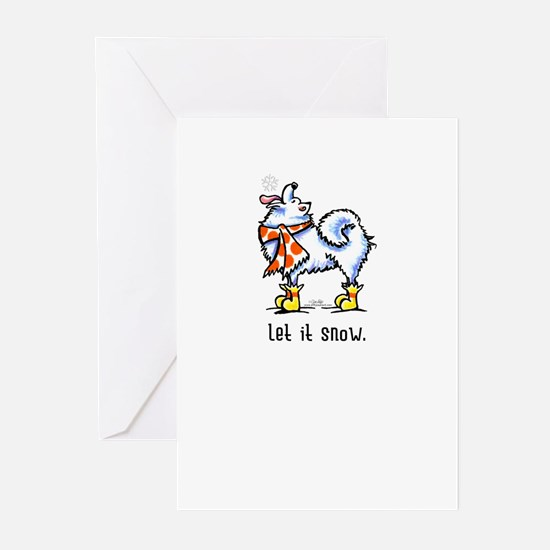 Samoyed Scarf Let it Snow Greeting Cards (Pk of 10