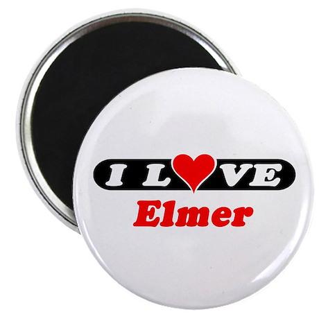"""I Love Elmer 2.25"""" Magnet (10 pack)"""