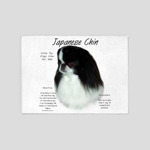 Japanese Chin 5'x7'Area Rug