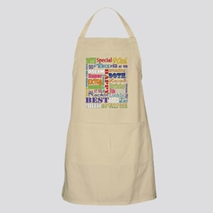 90th Birthday Typography Light Apron