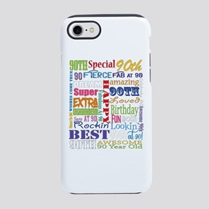 90th Birthday Typography iPhone 7 Tough Case
