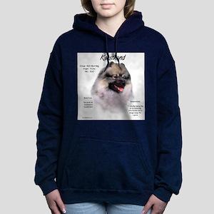 Keeshond Women's Hooded Sweatshirt