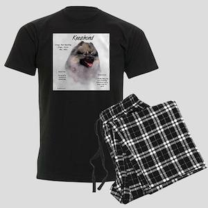 Keeshond Men's Dark Pajamas