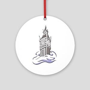 London: Clock Tower Ornament (Round)