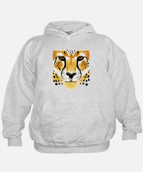 cheetah head close-up illustration Sweatshirt