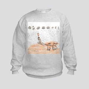 My Weekend Mushing w/story Kids Sweatshirt
