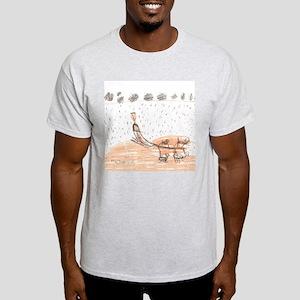 My Weekend Mushing w/story Light T-Shirt