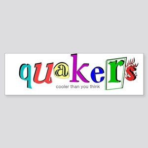 quakers- cooler Bumper Sticker