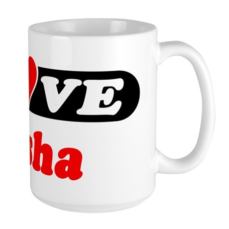 I Love Elisha Large Mug