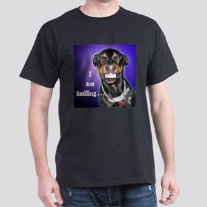 Doberman Pinscher Smiles Dark T-Shirt