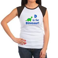 D is for Dinosaur! Women's Cap Sleeve T-Shirt