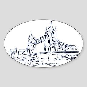 London: Tower Bridge Oval Sticker