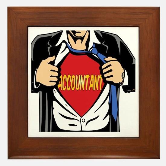 Super Accountant Framed Tile