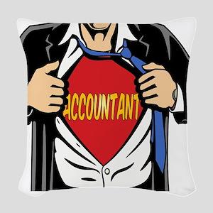 Super Accountant Woven Throw Pillow