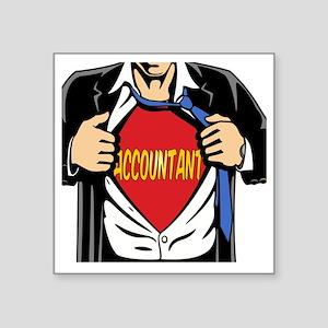 """Super Accountant Square Sticker 3"""" x 3"""""""