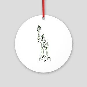 New York: Statue of Liberty Ornament (Round)