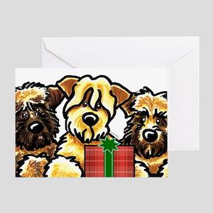 SCWT Wheaten Terrier Christmas Greeting Card
