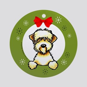 Soft Coated Wheaten Terrier Christmas Ornament (Ro