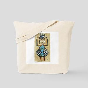 Sand Art Indian Girl Tote Bag