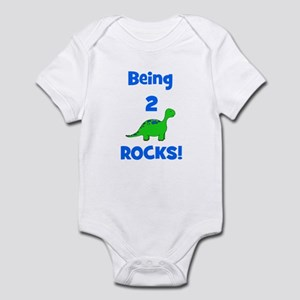 Being 2 Rocks! Dinosaur Infant Bodysuit