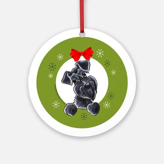 Black Miniature Schnauzer Lover Christmas Ornament