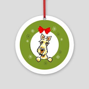 Wheaten Scottish Terrier Lover Christmas Ornament
