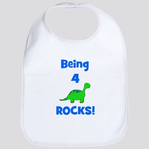 Being 4 Rocks! Dinosaur Bib