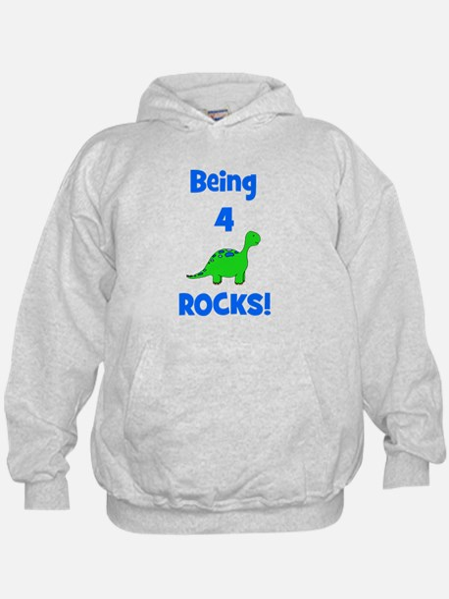 Being 4 Rocks! Dinosaur Hoodie