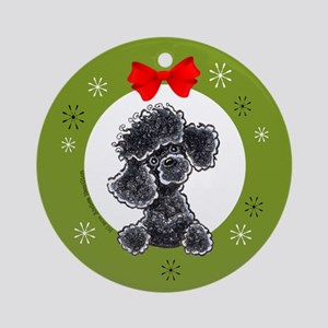 Black Toy Miniature Poodle Christmas Tree Ornament