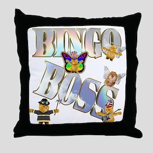 Bingo Boss Animals Throw Pillow