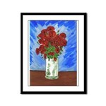 Red Poppies in VaseFramed Panel Print