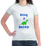 Being 7 Rocks! Dinosaur Jr. Ringer T-Shirt
