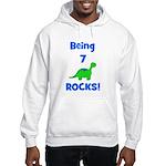 Being 7 Rocks! Dinosaur Hooded Sweatshirt
