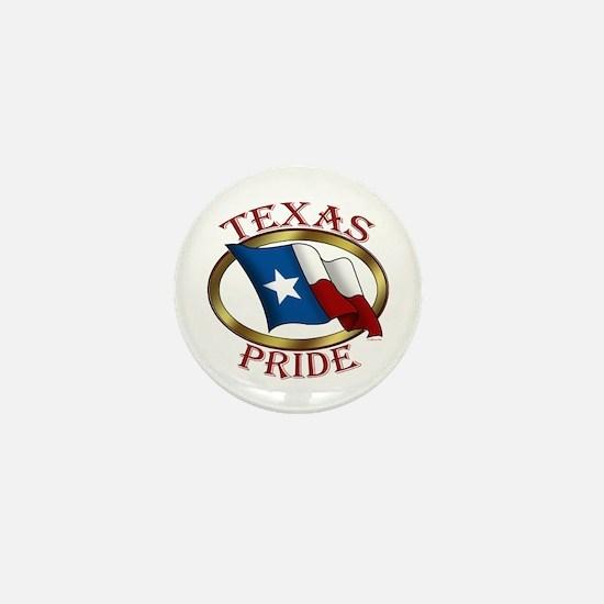 TX Flag: Texas Pride Mini Button