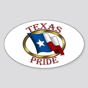 TX Flag: Texas Pride Oval Sticker