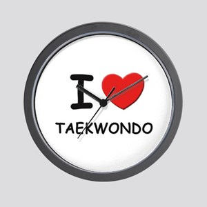 I love taekwondo  Wall Clock