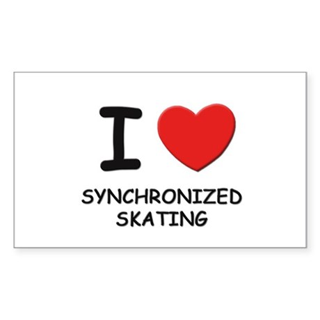 I love synchronized skating Rectangle Sticker